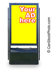 Street billboard isolated over white background