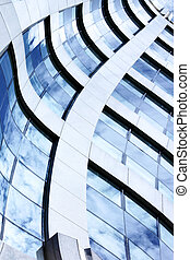 Abstract architectural background with building and sky...