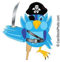 Sparrow pirate - Illustration of the bird of the pirate on...