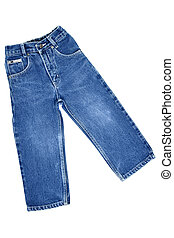 Jeans - Children's wear - jeans isolated over white...