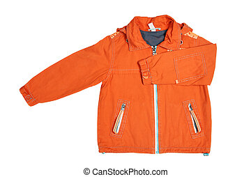Oange jacket - Childrens wear - orange jacket isolated over...