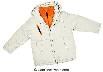 Winter jacket - Children's wear - winter jacket isolated...