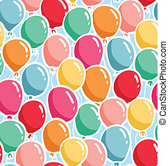 Bunch of colorful balloons seamless pattern
