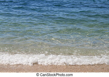 Waves breaking gently - This photo was taken of the fairly...