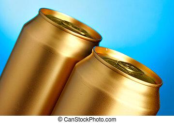 dourado, Cerveja, latas