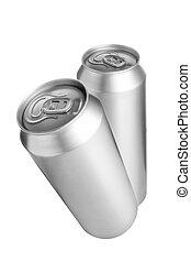 latas, alumínio, Cerveja, dois
