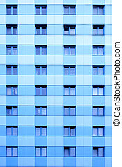 Windows of apartment skyscraper - Lots windows of modern...