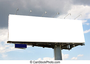 Blank billboard - Blank big billboard over blue sky, put...