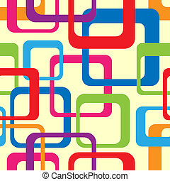 Retro Seamless Pattern - retro seamless pattern with rounded...