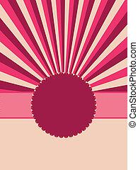 Round retro vintage grunge label. EPS 8