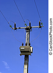 Electric line with pylon