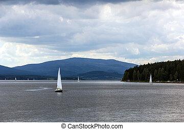Lipno, lago, ceco, repubblica
