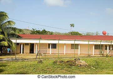 hospital medical center clinic on Big Corn Island Nicaragua...
