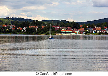 Frymburk at Lipno lake in Czech Republic. - Frymburk - small...