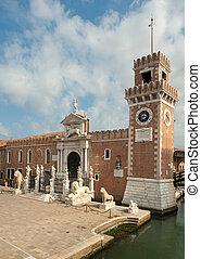 The Porta Magna at the Venetian Arsenal, Venice, Italy