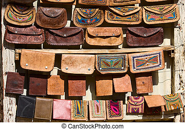 Handmade bags in an Indian market - Ethnic handmade bags...