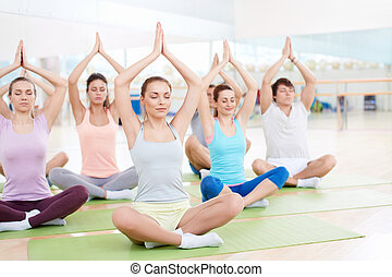 Yoga - Young people practicing yoga