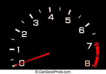 tachometer - car tachometer closeup in the darkness