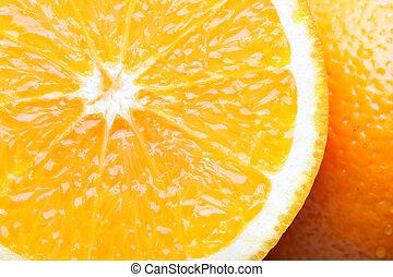 Oranges close-up