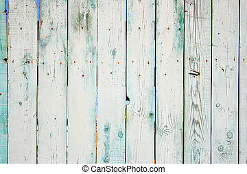 Wooden fence - Old painted wooden fence close-up, may be...