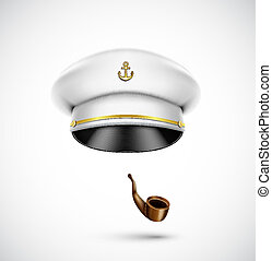 Sailor accessories hat and pipe, eps 10