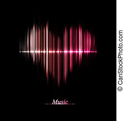 Love of music - Music equalizer in form of heart. Eps 10