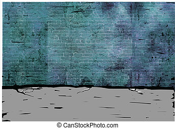 Brick wall - This illustration is a common cityscape.