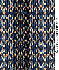 Seamless Knitted Pattern - Style Seamless Male Dark Knitted...