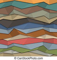 3d colored paper background - origami style Vector EPS10