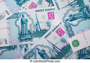 russian money background