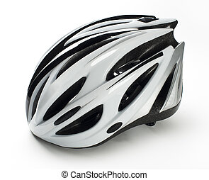 Cycling helmet - Isolated Cycling Helmet on a white...