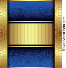 Abstract Gold and Blue Background