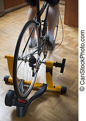 Cycle trainer - Home indoor training on a cycle trainer