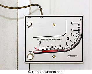 Manometer - Old manometer installing on white wall
