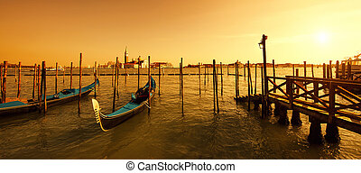 San Giorgio Maggiore island at sunset - San Giorgio Maggiore...