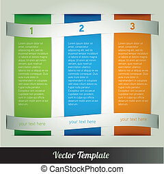 Template, vector eps10 illustration