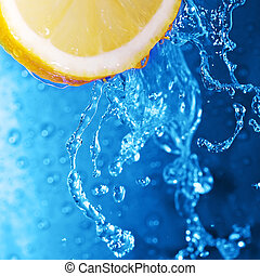 water on lemon