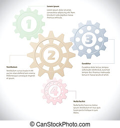 Infographic template with cogwheels - Info graphic design...