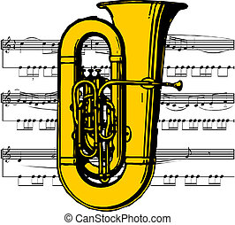Musical instrument the tuba