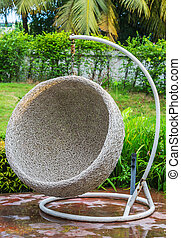 Rattan chair - Hanging rattan chair for outdoor use