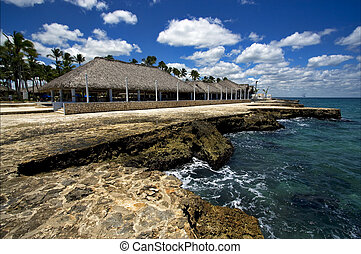 republica dominicana coastline peace marble and relax near...