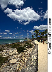 republica dominicana tourist coastline peace marble and...