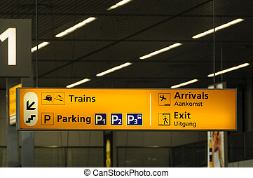 Information sign in airport - Information sign in Schiphol...