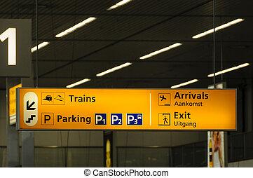 informacja, znak, lotnisko