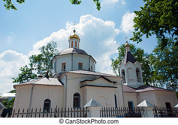 Christian temple, landmark in Moscow, Russia