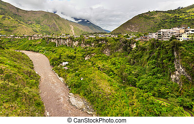 The city in a valley in Ecuador