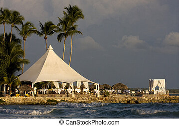tourist tent coastline peace - republica dominicana tourist...