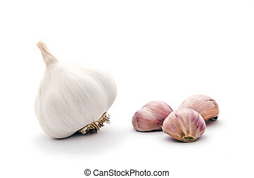 Garlic bulbs - Allium sp. Garlic is widely used for its...