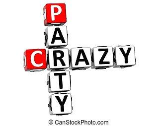 3D Crazy Party Crossword
