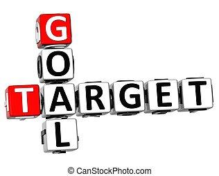 3D Goal Target Crossword